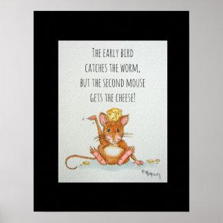 Das zweite Mäuselustige Zitat-Plakat Poster