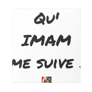 DASS IMAM ME FOLGT! - Wortspiele - Francois Ville Notizblock