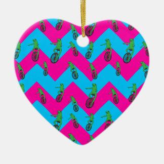Dat Boi Muster Keramik Herz-Ornament