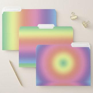 Datei-Ordner - Regenbogen-Streifen Papiermappe