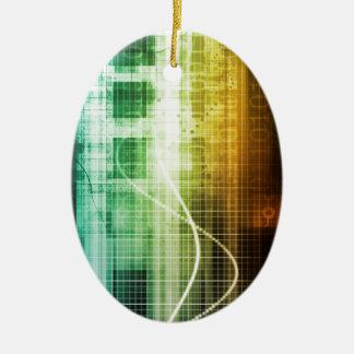 Daten-Schutz und Internet-Sicherheits-Scannen Keramik Ornament