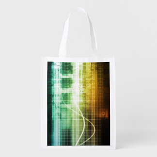 Daten-Schutz und Internet-Sicherheits-Scannen Wiederverwendbare Einkaufstasche