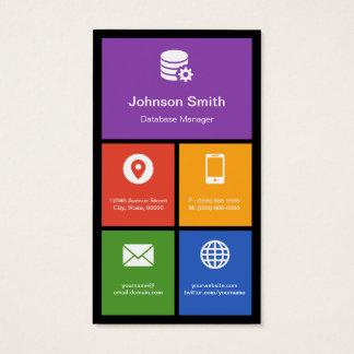 Datenbankmanager - bunte Fliesen kreativ Visitenkarte
