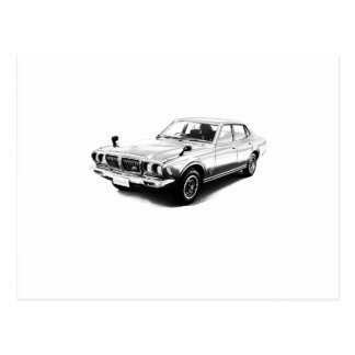 Datsun-Drossel 610 2000GTX 1974 Postkarte