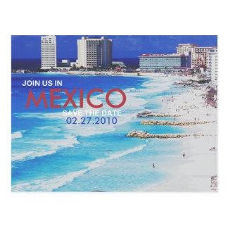 Datum freihalten postkarte