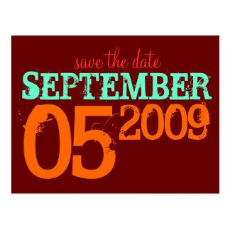 Datum freihalten postkarten