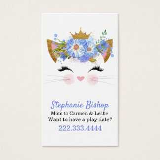 Datums-Karte Prinzessin-Kitty Mommy Play Visitenkarte