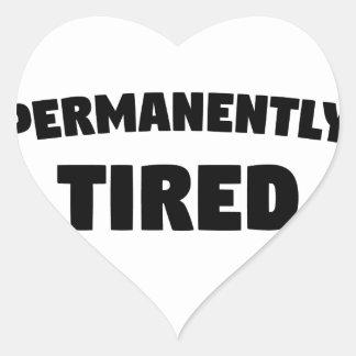 Dauerhaft müde Herz-Aufkleber