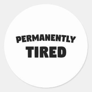 Dauerhaft müde runder aufkleber