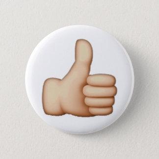 Daumen oben - Emoji Runder Button 5,1 Cm
