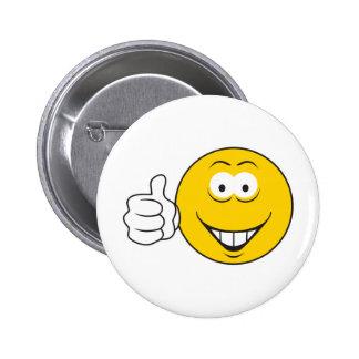 Daumen Up Smiley Runder Button 5,1 Cm