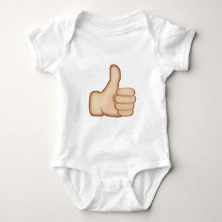 Daumen Up Zeichen Emoji Baby Strampler