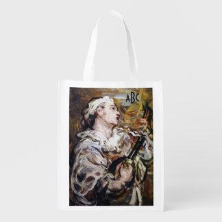 Daumiers Pierrot kundenspezifische Wiederverwendbare Tragetaschen