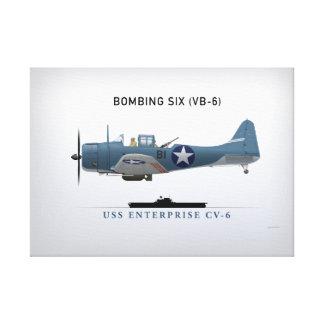 Dauntless Sturzbomber SBD von Bomber sechs (VB-6) Leinwand Drucke