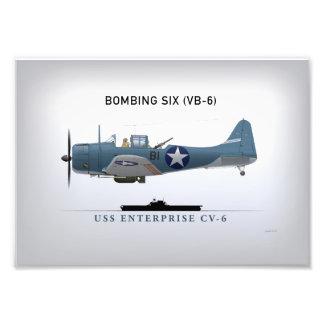 Dauntless Sturzbomber SBD von Bomber sechs (VB-6) Photos