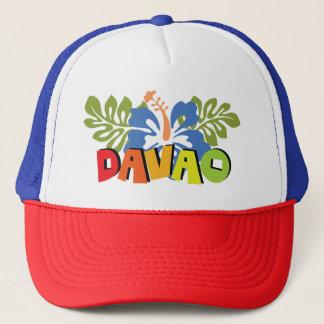 Davao Philippinen auf tropischen Hibiskus-Blumen Truckerkappe