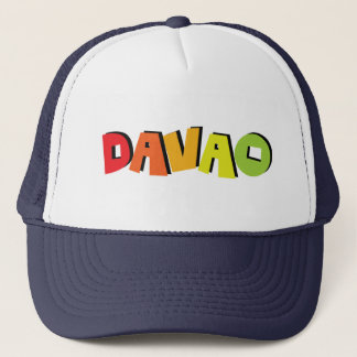 Davao Philippinen. Ebene u. einfaches Truckerkappe