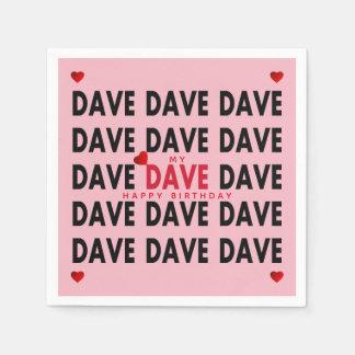 Dave plus Text-Vorlagen Papierserviette