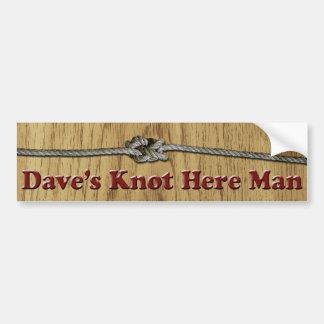 Daves Knoten hier bemannen - Autoaufkleber