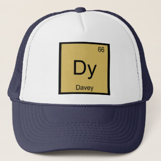 Davey Namenschemie-Element-Periodensystem Truckerkappe