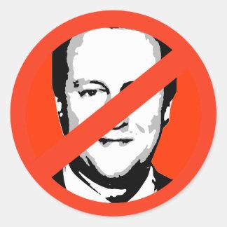 David Cameron Runder Aufkleber