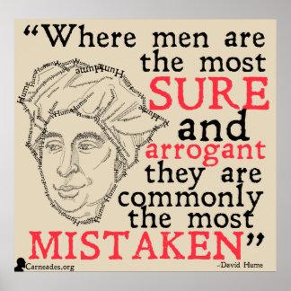 David Hume-Zitat-Plakat Poster