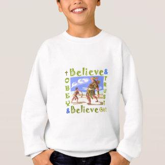 David- u. Goliath-Vertrauens-Gott-Logo Sweatshirt