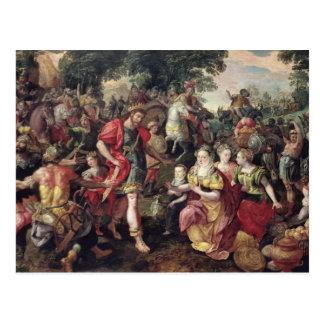 David und Abigail oder Alexander Postkarte