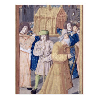 David und die Arche des Vertrages Postkarte