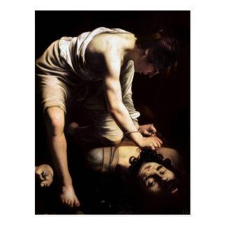 David und Goliath durch Caravaggio Postkarte