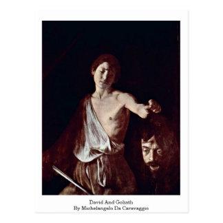 David und Goliath durch Michelangelo DA Caravaggio Postkarte