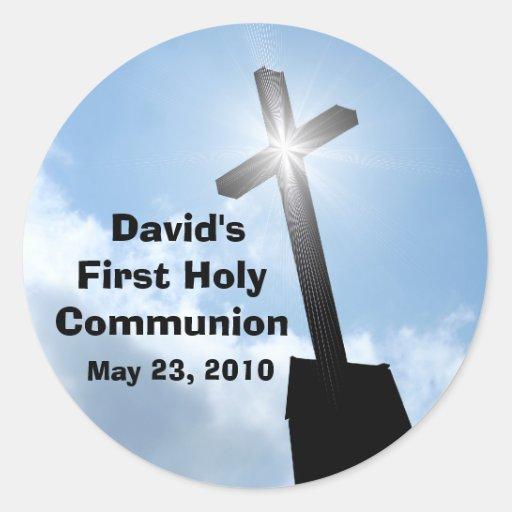 Davids erste heilige Kommunions-Aufkleber