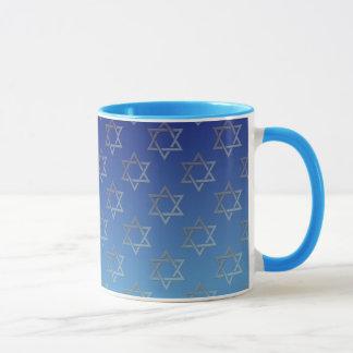 Davidsstern Auf blauem Hintergrund Tasse