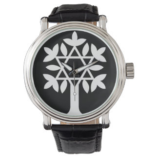Davidsstern - Baum der Leben-Uhr Armbanduhr
