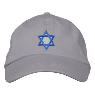 Davidsstern Bestickte Mütze