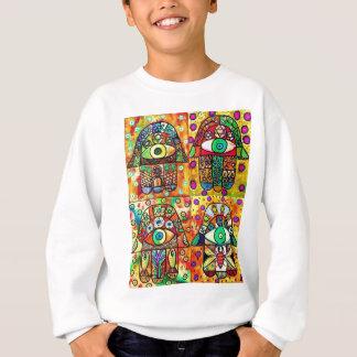 Davidsstern Hamsa Vintages Tapastry Sweatshirt