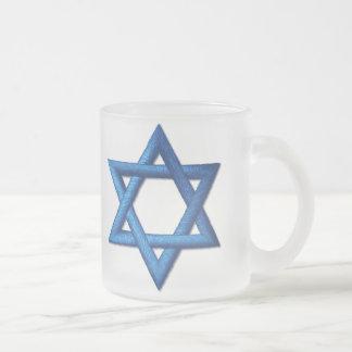 Davidsstern Jüdisch Matte Glastasse