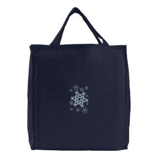 Davidsstern Schneeflocke Bestickte Einkaufstaschen