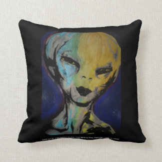 """Davis-alien-"" (Throw) Amerikaner MoJo Kissen"