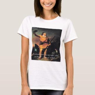 """Davy Crocket """"gehen voran"""" Klugheits-Zitat T-Shirt"""