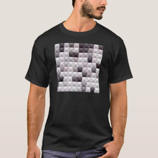 Davy grauer abstrakter niedriger T-Shirt