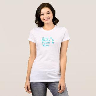 """Davy/Micky/Peter/Mike"" Aqua-Schreibmaschine T-Shirt"