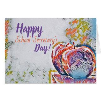 Day Card glücklichen Schulsekretärs Karte