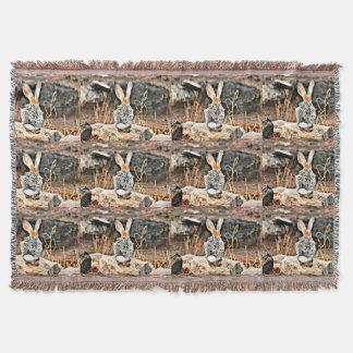 Daydreamer-Häschen-kundenspezifische Wurfs-Decke Decke