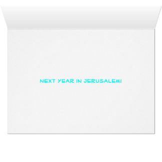 """Dayenu"" Jerusalem Pesach Grußkarte"