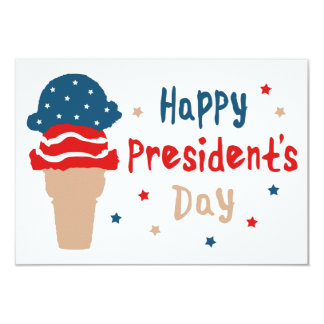 Dayglücklichen Präsidenten patriotische Eistüte Karte