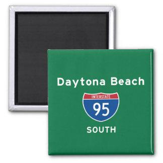 Daytona Beach 95 Quadratischer Magnet