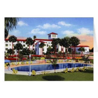 Daytona Beach Florida das Riviera-Hotel Karte