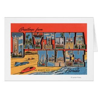 Daytona Beach, Florida - große Buchstabe-Szenen Grußkarten