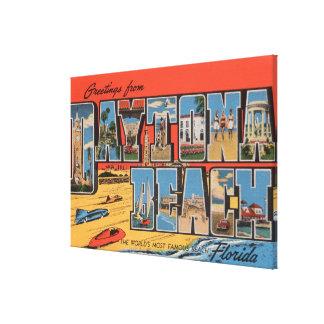 Daytona Beach, Florida - große Buchstabe-Szenen Gespannte Galeriedrucke